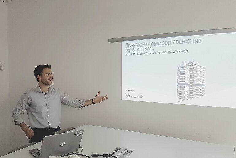 Yasin Yilmaz, Praktikant bei BMW Group München