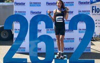 Charlotte Litrowski lief während ihrer Zeit in San Francisco auch einen Marathon