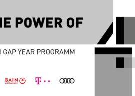 Das neue Gap Year Programm von Bain & Company, Audi, FC Bayern und der Deutschen Telekom