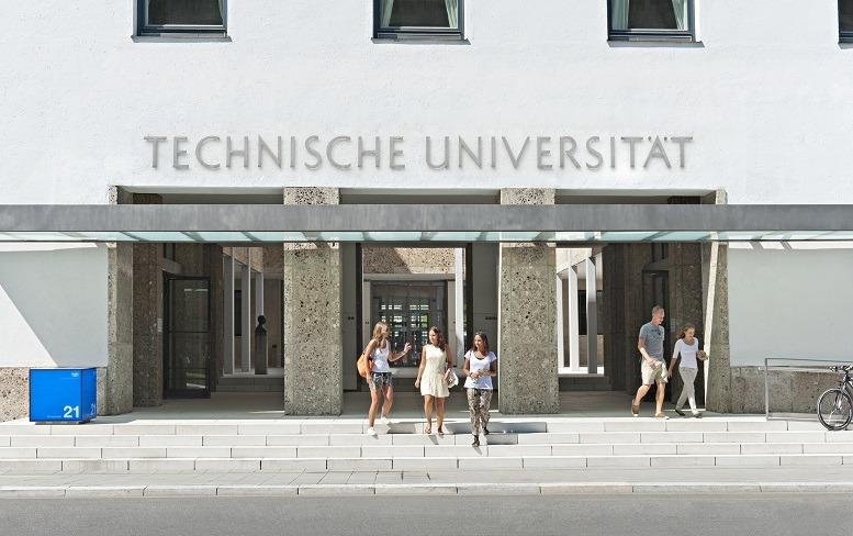 Haupteingang der Technischen Universität München. Copyright: Uli Benz / TU Muenchen