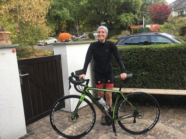 Sportlicher Ausgleich: Wenn Julia Boltz an den Wochenenden nicht auf dem Rennrad sitzt, absolviert sie eineAusbildung zur Yoga-Lehrerin