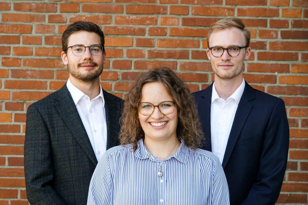 Seit August 2020 hat CARS einen neuen Vorstand - v.l.n.r. Sven Krejci, Antonia Pechtold und Sebastian Berning
