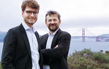 """Jan-Henrik Thomas, Principal und HR-Verantwortlicher (links): """"Unsere Vision ist es, mit e&Co. einen Beratungs- und Innovationshub zu etablieren: eine einzigartige Plattform für Wissen, Talente und Unternehmergeist."""" Rechts: Dr. Engelbert Wimmer, CEO"""