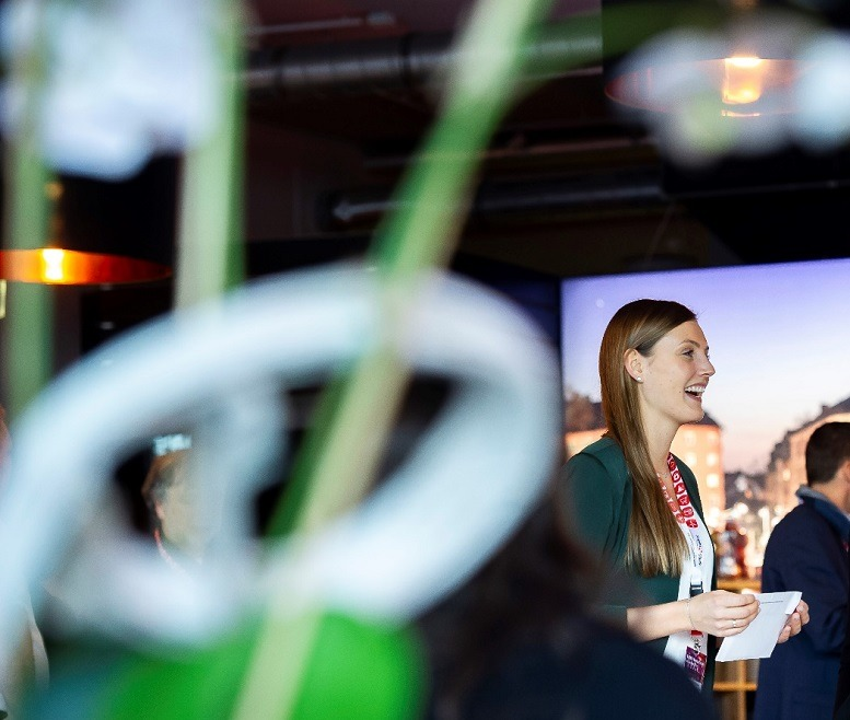 Harriet Florence Werther auf den diesjährigen HCM-Kompasstagen von Sopra Steria Consulting. Foto © Benjamin Pritzkuleit