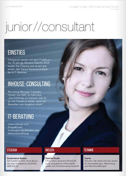 Faq und kontakt magazin junior consultant for Junior consultant